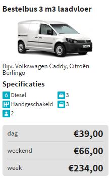 prijzen bestelbus laadvloer autoweerd